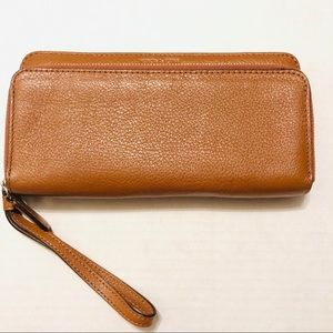 COACH Wallet/Wristlet  Pebble Leather Medium Brown